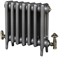 Eastgate Victoriana 3 Column 7 Section Cast Iron Radiator 450mm High x 455mm Wide - Metallic Finish